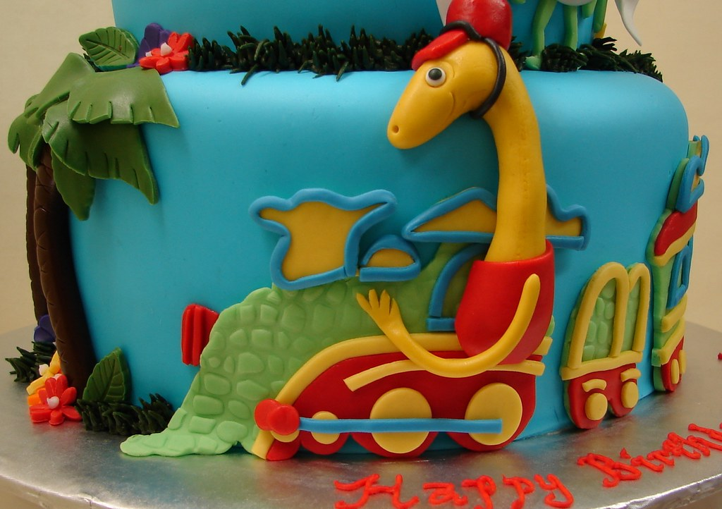Stupendous Dinosaur Train Friends Birthday Cake Dinosaur Train Fr Flickr Funny Birthday Cards Online Alyptdamsfinfo