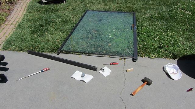 IMG_2797 Patio sliding door bottom roller fix