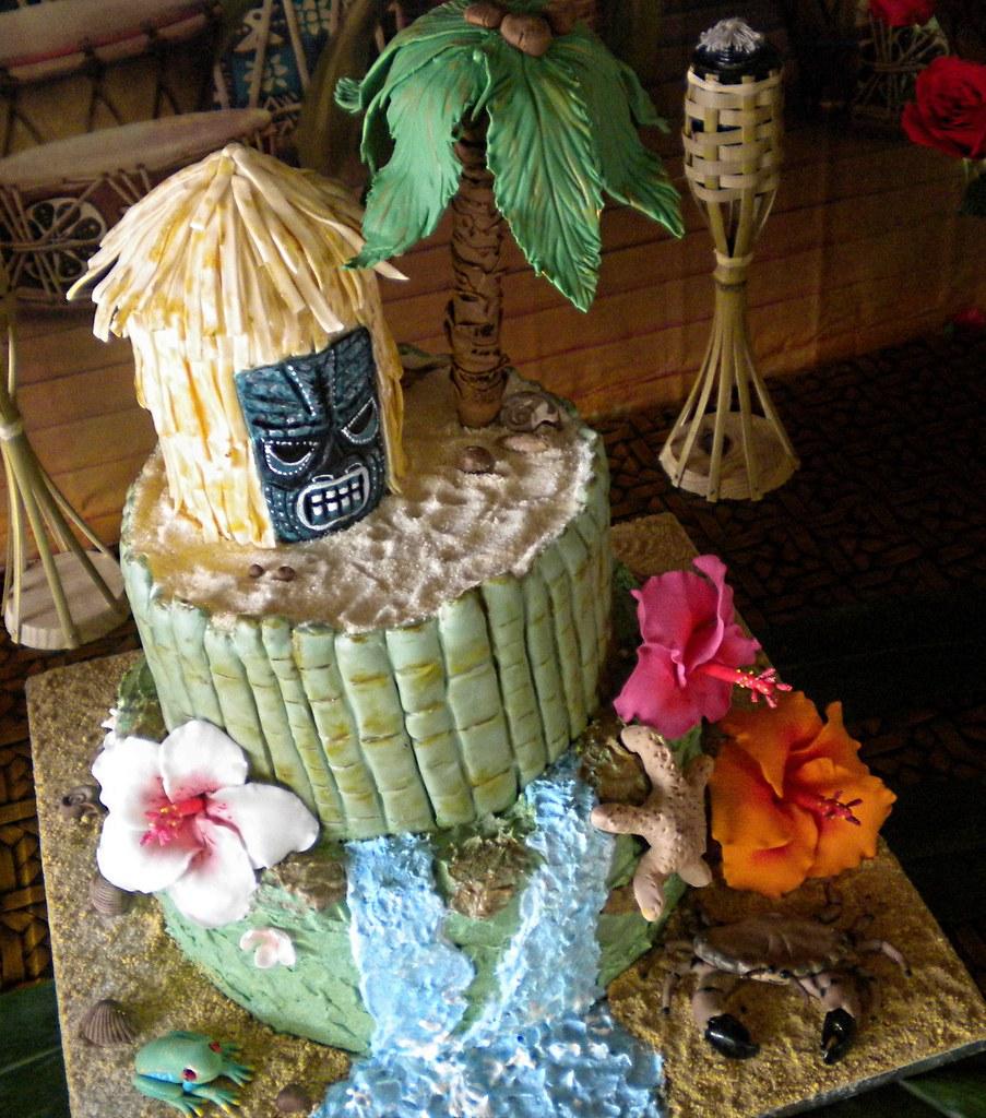 Admirable Hawaiian Birthday Cake The Cake Diva Minneapolis Flickr Funny Birthday Cards Online Fluifree Goldxyz