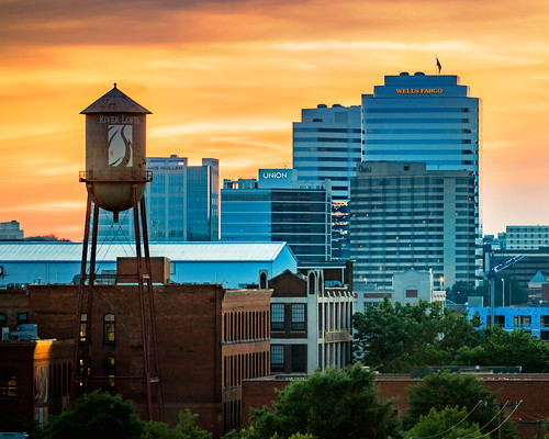 sunset virginia nikon cityscape watertower row richmond va tobacco rva
