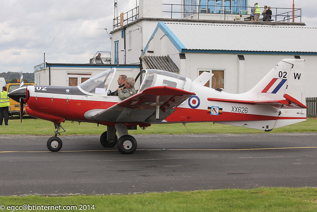 G-CDVV - 1973 build Scottish Aviation Bulldog T.1, at Halfpenny Green during the Autumn 2014 Wings & Wheels event