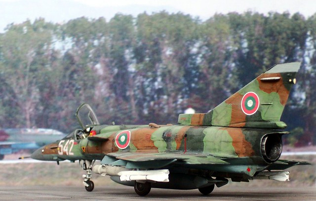 "1:72 IAI Kfir C.60; ""542"" Bulgarian Air Force, 1/3rd Fighter Squadron, Graf Ignatievo Air Base, 2010 (Italeri kit conversion/Whif)"