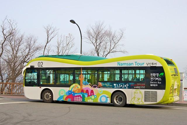 Namsan Electric Tour Bus on Mount Namsan, Seoul, South Korea