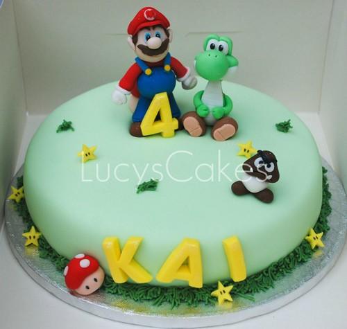 Sensational Super Mario And Yoshi Birthday Cake Visit Me And Like My F Flickr Funny Birthday Cards Online Necthendildamsfinfo