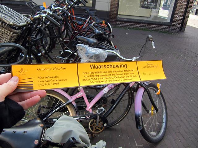 Haarlem bicycle warnings