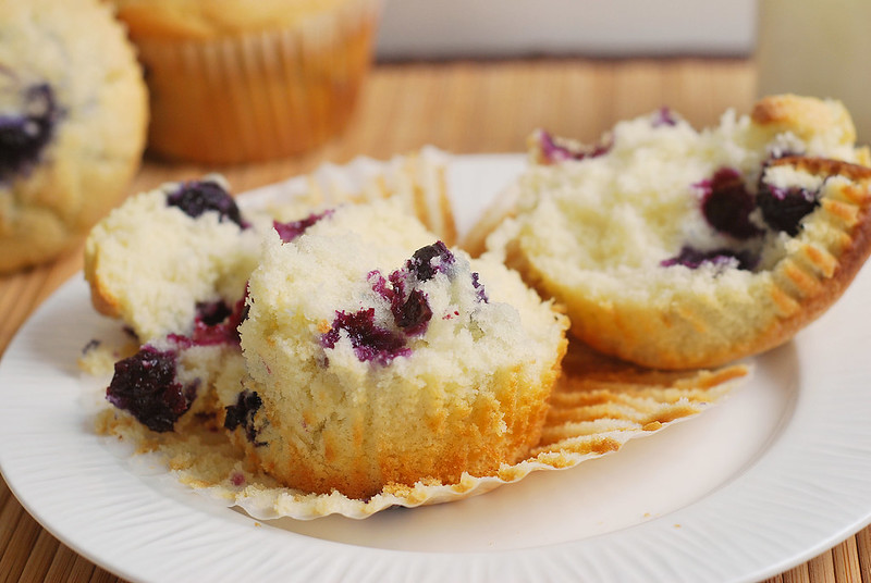 Blueberry Muffins - the perfect soft and fluffy blueberry muffin recipe. These are even better than the muffins at your favorte coffee shop!