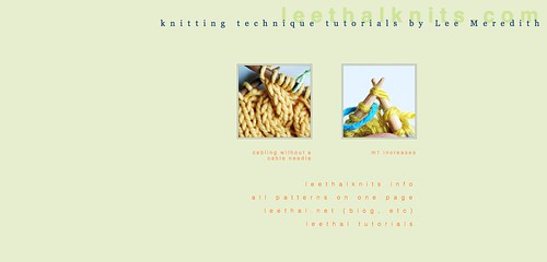 leethal knitting tutorials | by -leethal-