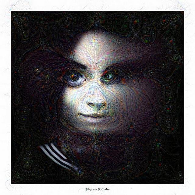 Mia Makila Portrait (Google Deep Dream)