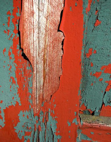 peeling paint on my neighbour's fence