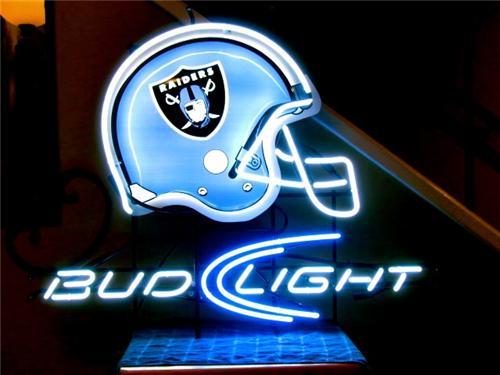 Bud Light Oakland Raiders Neon Sign Bar Light Neon Beer Si