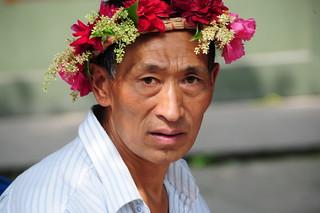 Old Man Celebrating Dragon festival by qatbart