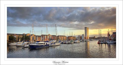 uk sunset summer tower water swansea wales marina canon boats glow calm yachts bcc explored 5dmk11 stevechatman