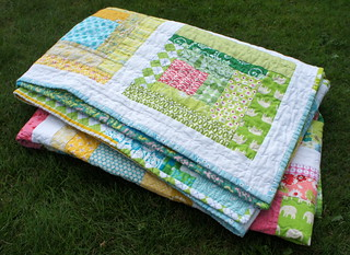 Sherbet Log Cabin Quilt - scrappy binding | by Cut To Pieces