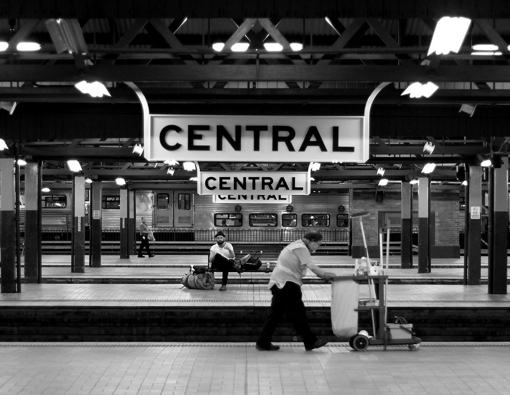 A quiet night at Central No 2 by Robert Cook