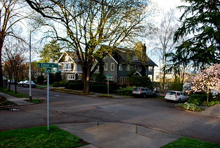 Looking From Entrance to Roanoke Park to Representative Neighborhood Homes on 10th Ave. East
