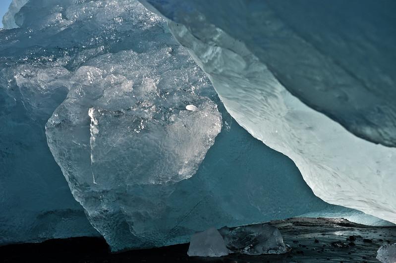 Lichteffekte im Eis