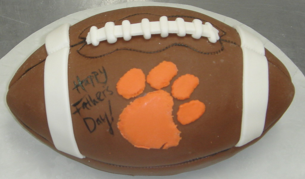 Fine Custom Unique Fondant 3D Clemson University Tiger Paw Foot Flickr Funny Birthday Cards Online Eattedamsfinfo