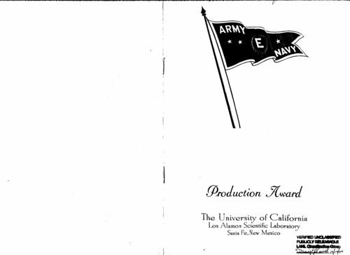 Program from the Army-Navy E Award Ceremony October 16 1945