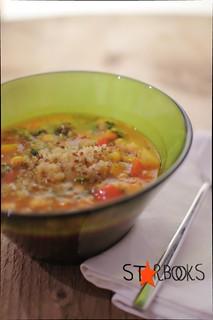 zuppa di ceci con quinoa e harissa verde, senza glutine | by mammadaia