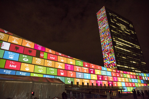 Projections on Sustainable Development Goals and 70th Anniversary of the United Nations | by United Nations Photo