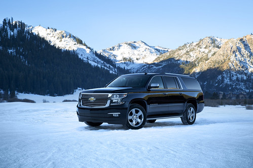 2015 Chevrolet Suburban in Black Front Driver Side in Lake Tahoe Photo