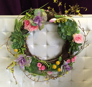 Spring Wreath - Shirley's Flowers & Gifts, Inc., in Rogers, Ark.-NEW | by Flower Factor