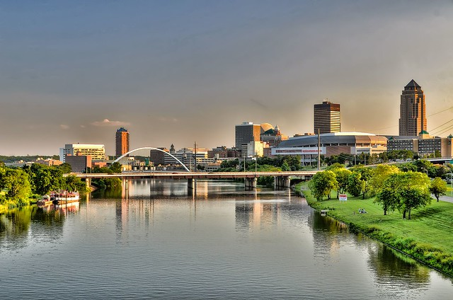 River in Des Moines, Iowa