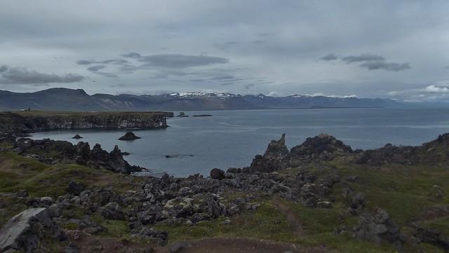 Arnarstapi  in The Snæfellsnes Peninsula in Iceland - July 2012