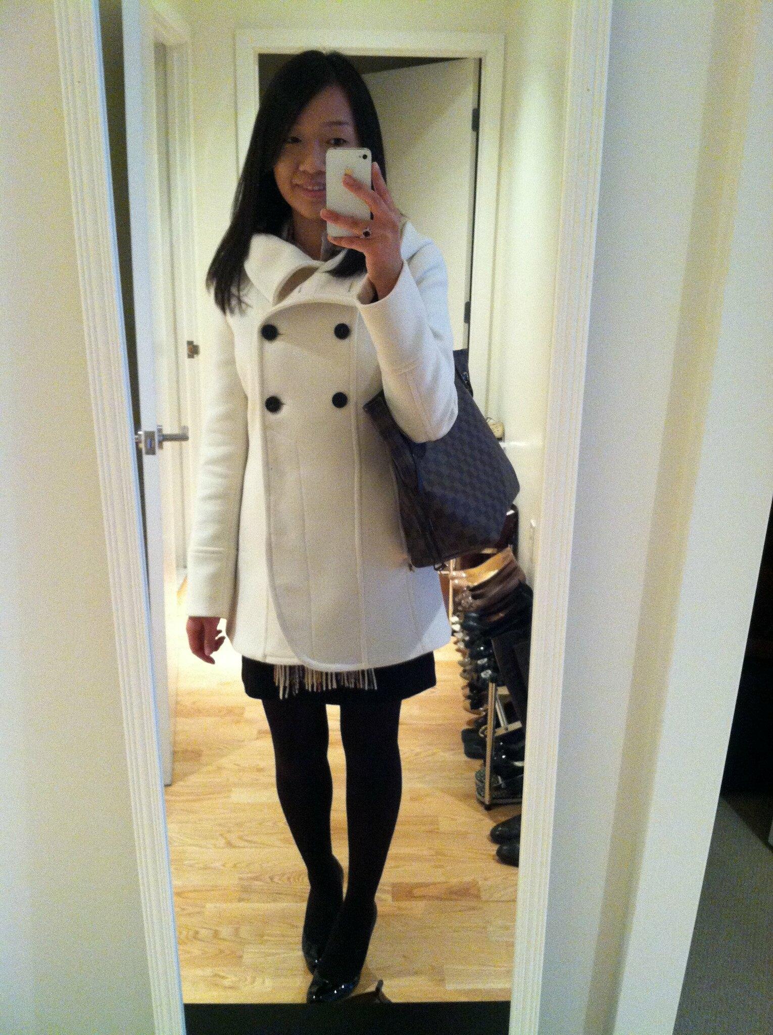 Soia & Kyo Bergi coat after alterations (dressy)
