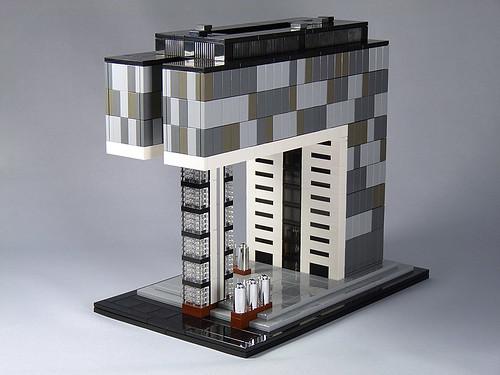 LEGO Architecture MOC: Kranhaus Süd 01, Cologne