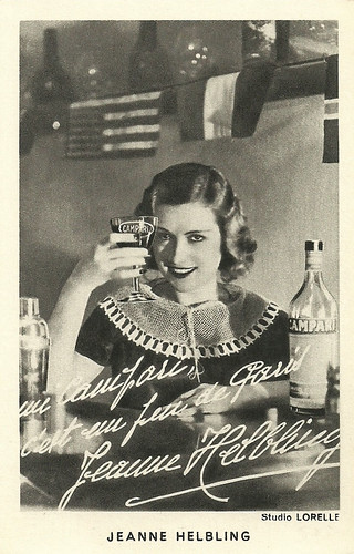 Jeanne Helbling, publicity for Campari