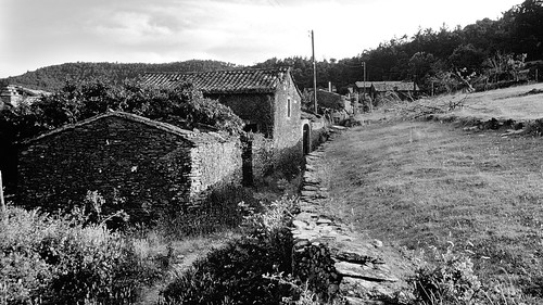Abandoned Cévennes mountain village, discovered by urban hippies 1978 - Mercoire, Languedoc-Roussillon, Gard, France