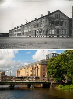 Gothenburg, Drottningtorget 1900 / 2012