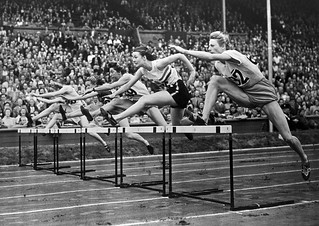 Fanny Blankers-Koen of Holland in action in the 80 metres hurdles at the 1948 London Olympics. ©ROH/IOC 2012 | by Royal Opera House Covent Garden