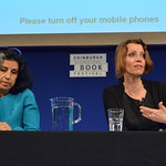 Ahdaf Soueif and Elif Shafak at the Edinburgh World Writers' Conference c Pascal Saez | Ahdaf Soueif and Elif Shafak lead the 'Should Literature be Political' debate at the Edinburgh World Writers' Conference