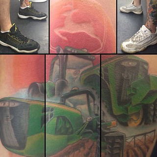 A John Deere tattoo from today. And the best shoes ever...… | Flickr