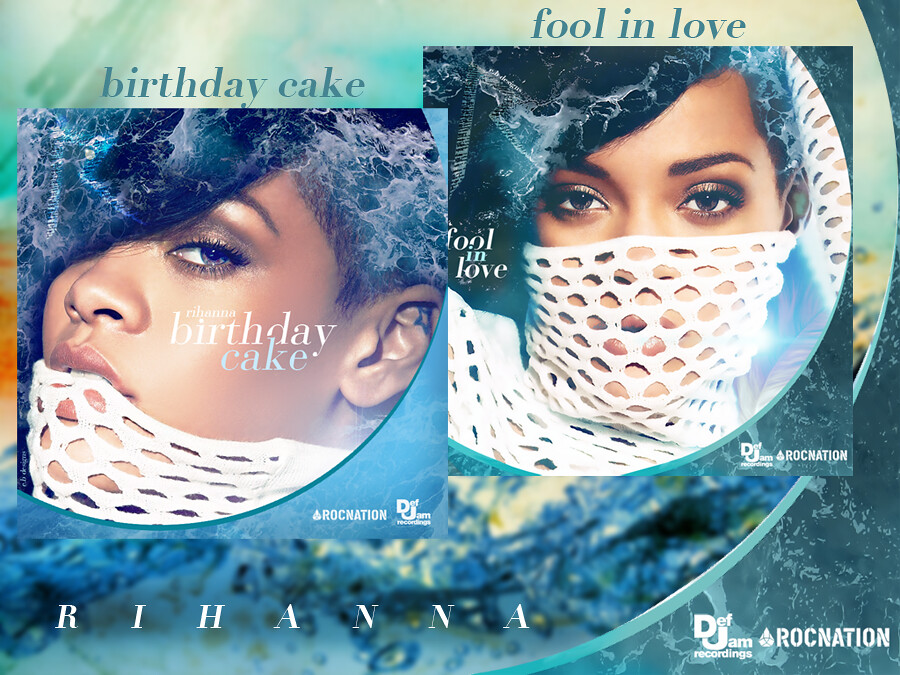 Stupendous Rihanna Birthday Cake Fool In Love Fanmade Single Cov Flickr Funny Birthday Cards Online Fluifree Goldxyz