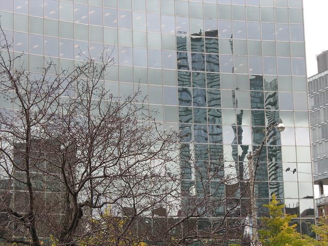 Reflective building on University Avenue