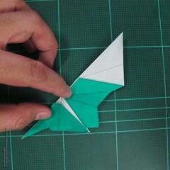 วิธีพับกระดาษเป็นรูปหมู (Origami Pig) 027