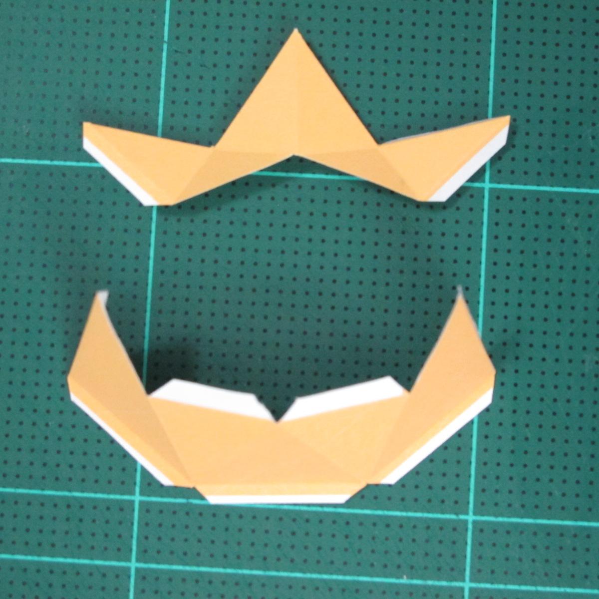 วิธีทำโมเดลกระดาษตุ้กตาสัตว์เลี้ยง หยดทองจากเกมส์ คุกกี้รัน (LINE Cookie Run Gold Drop Papercraft Model - クッキーラン  「黄金ドロップ」 ペーパークラフト) 005