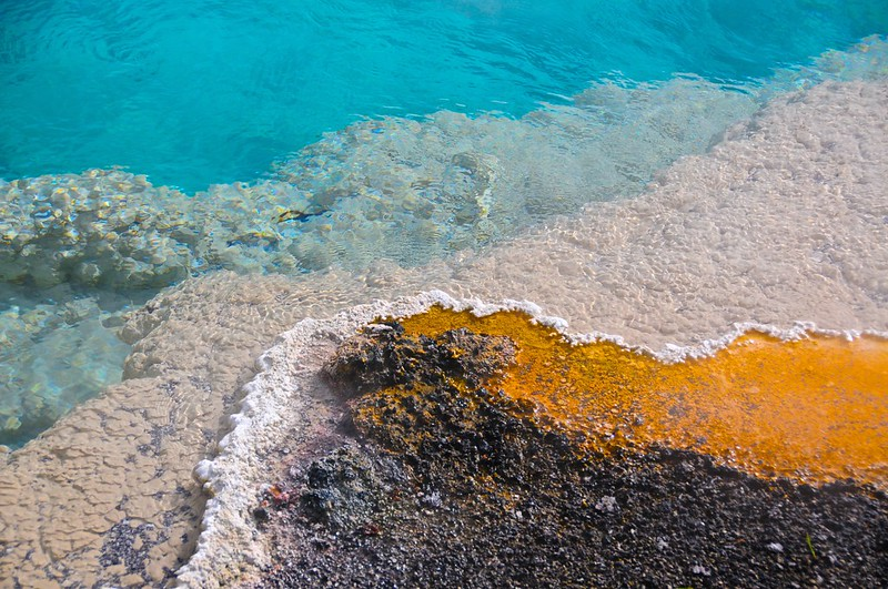 Colorful thermal feature, Yellowstone National Park