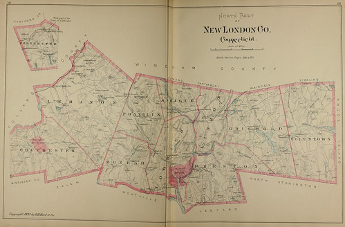 Page 182 & 183 of Town and city atlas of the State of Connecticut. / Compiled from government surveys, county records and personal investigations | by uconnlibrarymagic