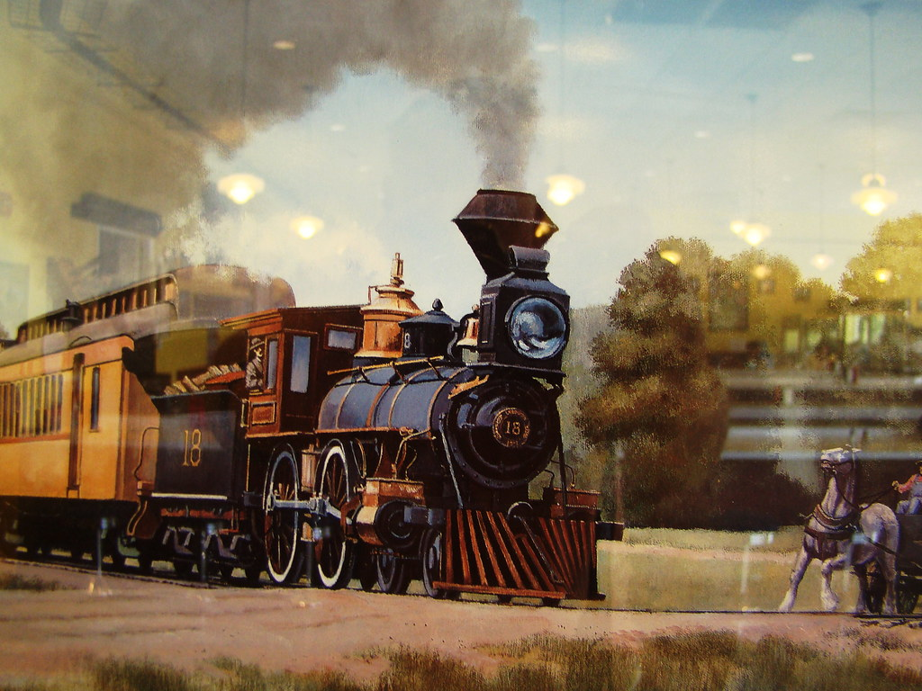 Color print of the American type #18 4-4-0 and a Vintage18 ...