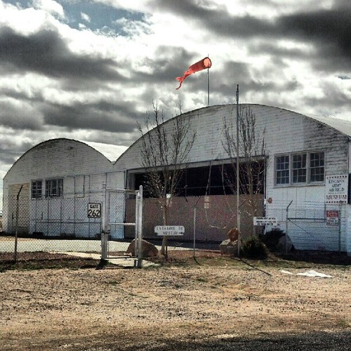 The Ancient WWII Era Hangars Of Lonely, Windy Kingman Airp