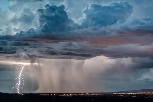 sunset sky storm newmexico santafe rain clouds thunderstorm lightning pseudohdr impressedbeauty skyascanvas therebeastormabrewin cloudsstormssunsetssunrises