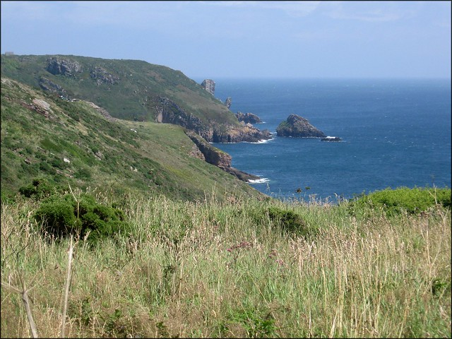The South coast of Alderney