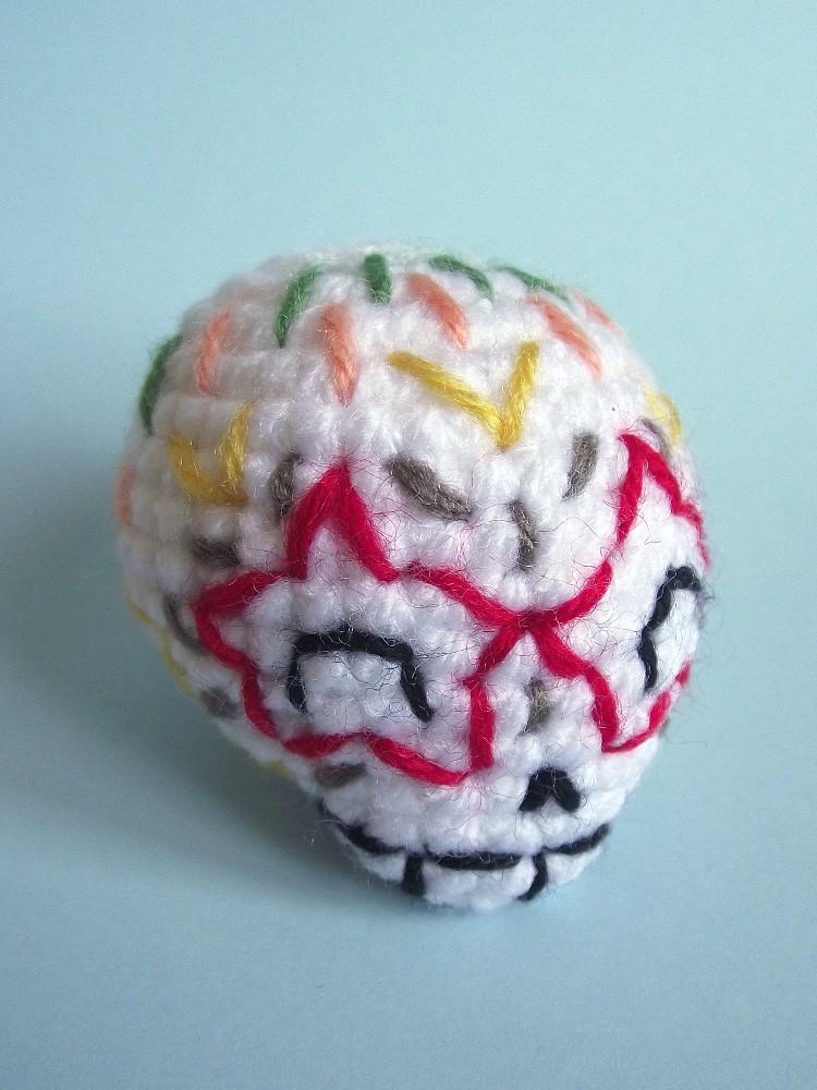 How to Crochet Tutorial: DIY Crochet Around Mache-Skull by ... | 1000x750