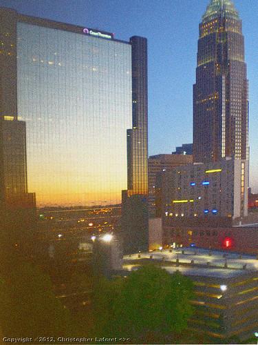 sunrise charlotte uptown bankofamericatower charlotteplaza olympusfe230