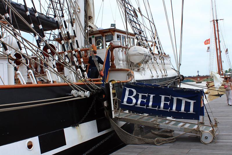 Accostage du Belem - Bordeaux - 28 juin 2012
