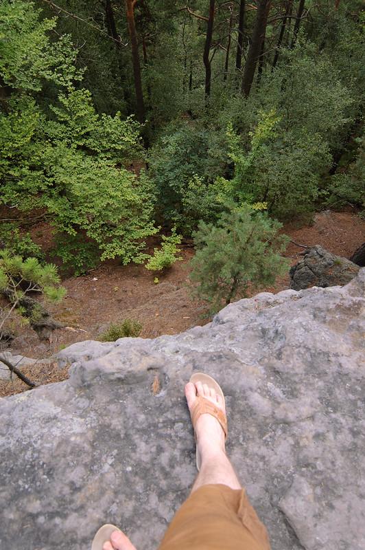Bergbeklimmen op slippers